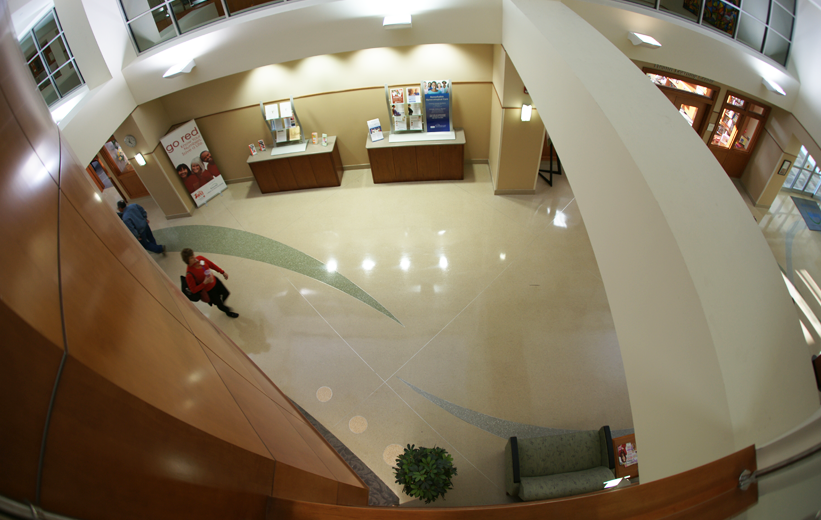 Aerial view of Forsyth Medical Center terrazzo floor