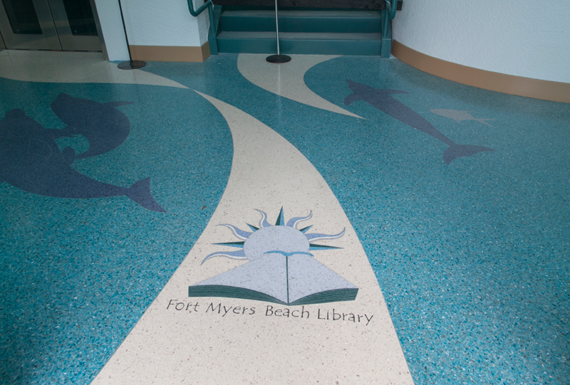 Fort Myers Beach Library Terrazzo Flooring