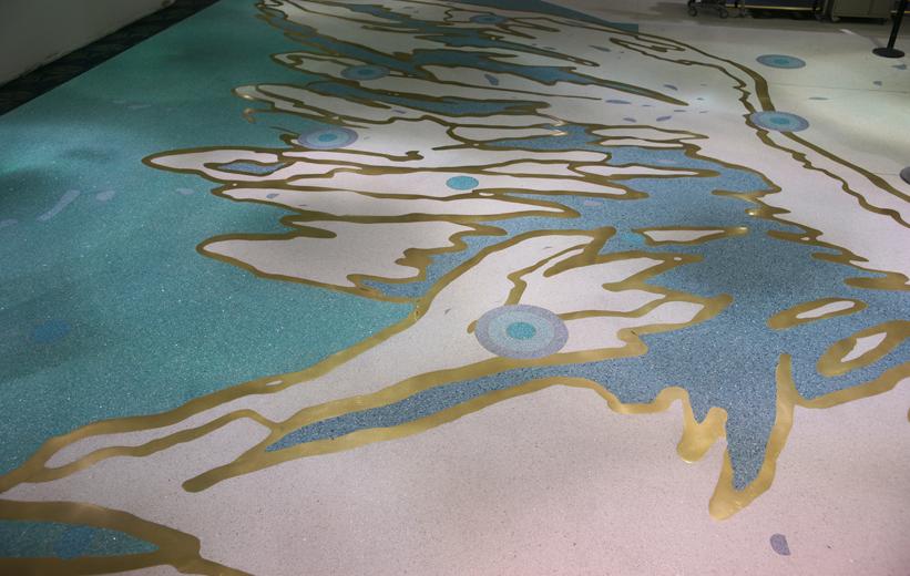 epoxy terrazzo flooring at Fort Lauderdale International Airport Florida