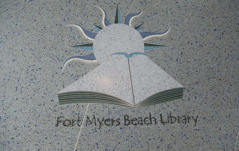 Terrazzo Logo at Fort Myers Beach Library