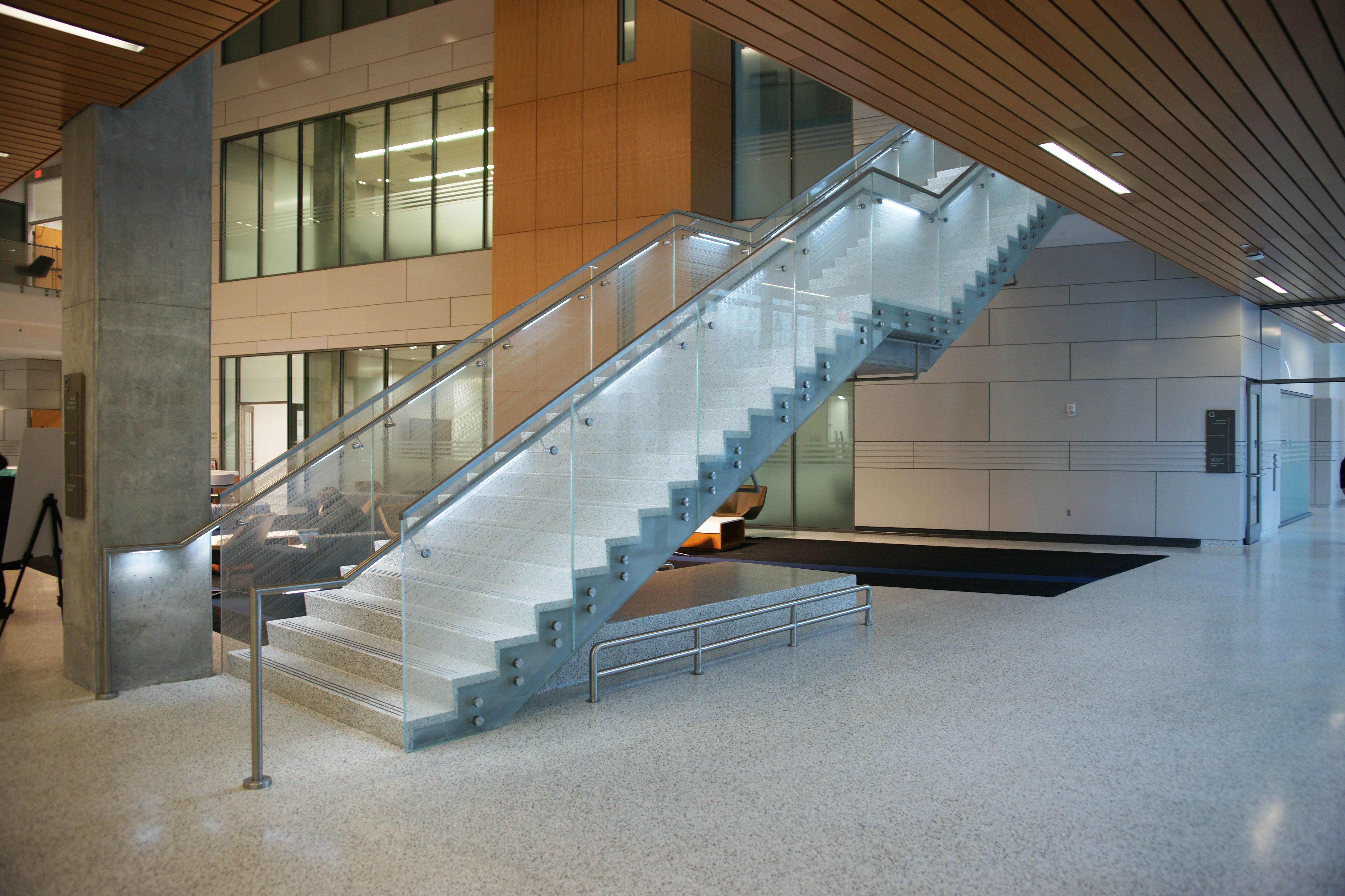 GSU Humanities Law Building Staircase