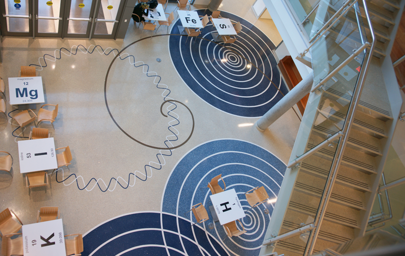 Aerial View of George Mason University Terrazzo Flooring