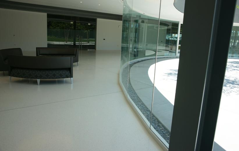 White Epoxy Terrazzo Floors at Georgia Bioscience Training Center