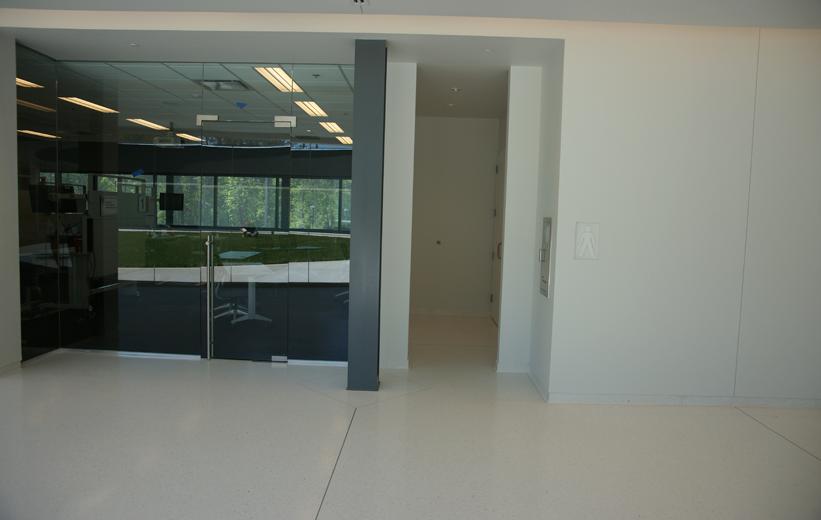 White Epoxy Terrazzo Flooring at Georgia Bioscience Training Center