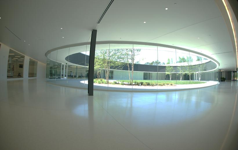 Seamless White Epoxy Terrazzo Floor at Georgia Bioscience Training Center