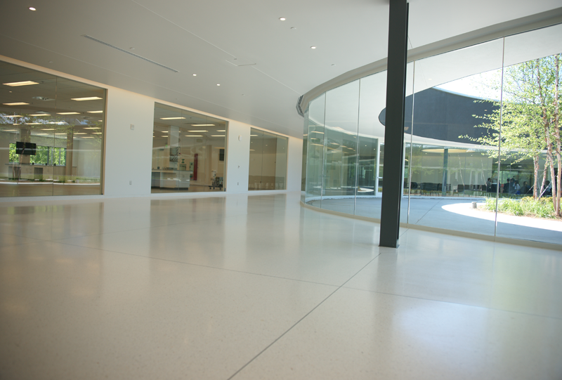 Georgia Bioscience Training Center Seamless Terrazzo Installation