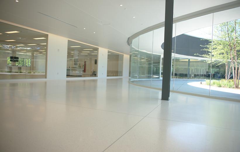 Georgia Bioscience Training Center with white epoxy terrazzo floor