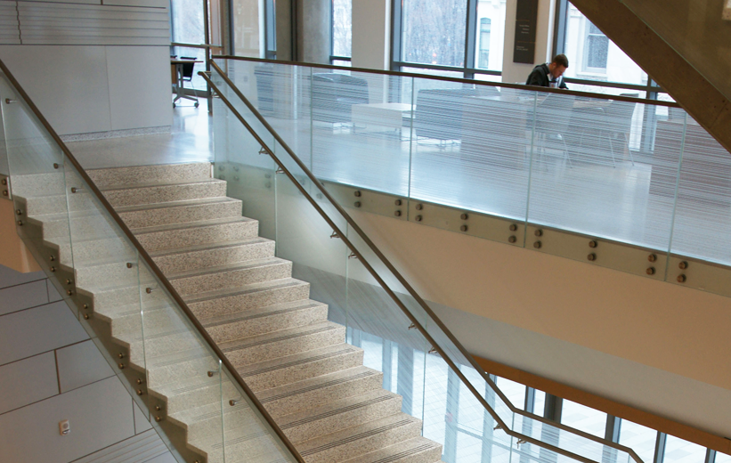 Classic Precast Terrazzo Stair Treads and Risers at Georgia State University