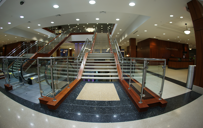 Precast Self Supporting flat treads stairs at High Point University