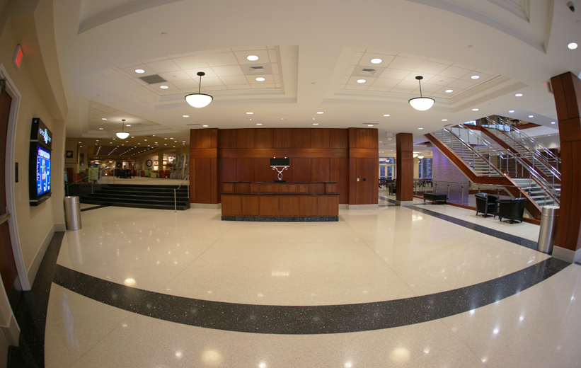 Beautiful terrazzo floors at High Point University