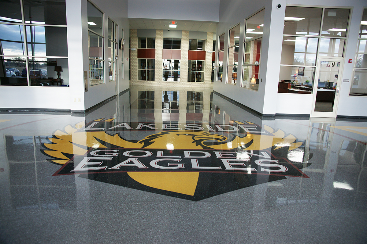 Lakeside Junior High School Terrazzo Logo