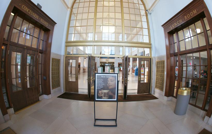 Terrazzo Tiles in Entrance way of J.Douglas Galyon Depot