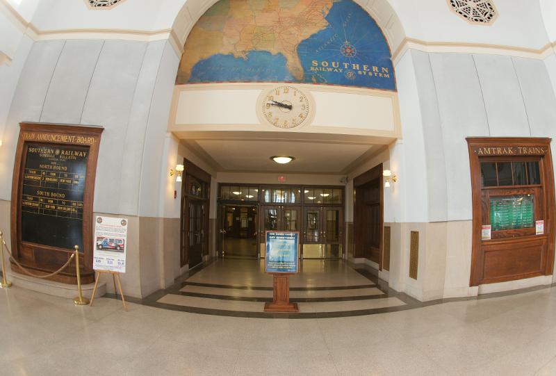 J. Douglas Galyon Depot with Terrazzo tile