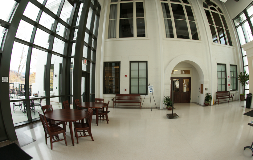 White Terrazzo Flooring in Jackson County Courthouse lobby