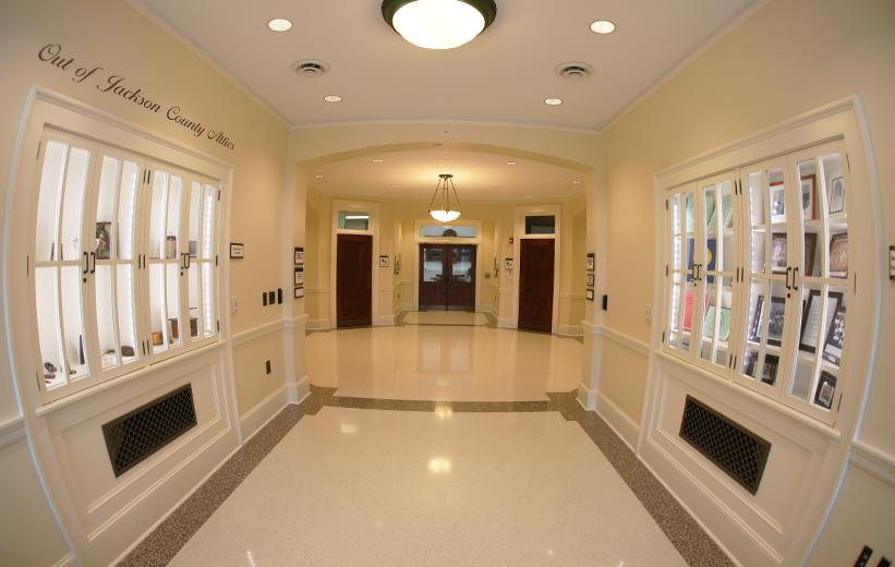 Jackson County Courthouse Terrazzo Flooring in Hallway