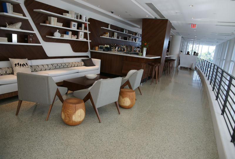 James Royal Palms Hotel epoxy terrazzo installation