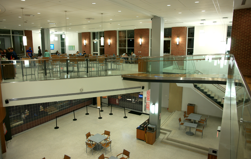 cafeteria design with terrazzo flooring