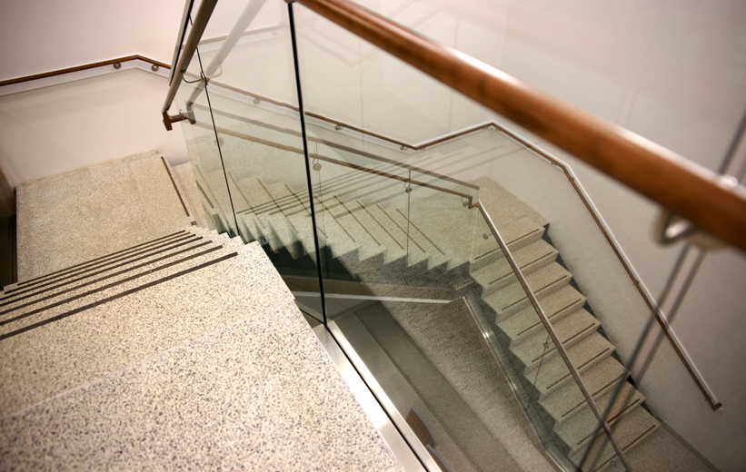 Precast terrazzo stairs at Liberty University