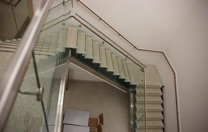 White Terrazzo Staircase