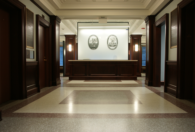 John C. Calhoun State Office with Terrazzo Flooring