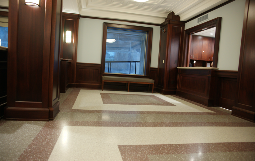 terrazzo installation at John C. Calhoun Building