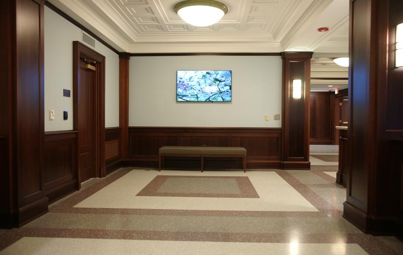 epoxy terrazzo flooring at John C. Calhoun Building in South Carolina