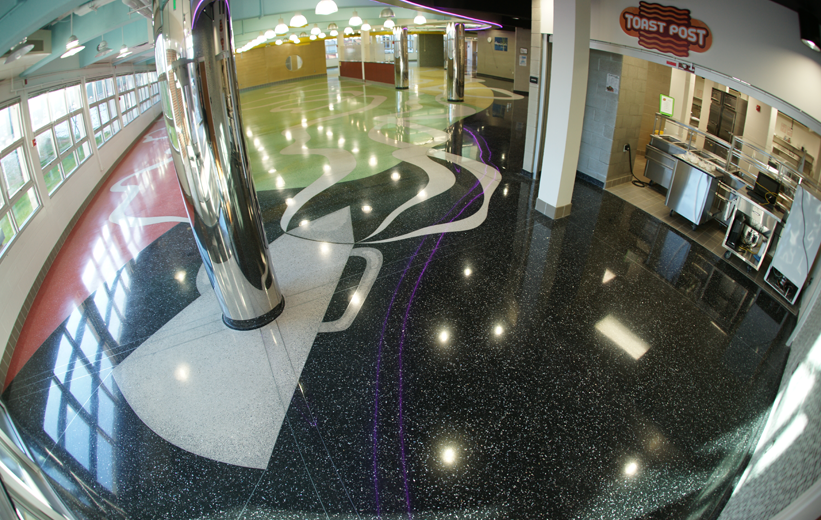 John F. Kennedy High School Terrazzo Installation