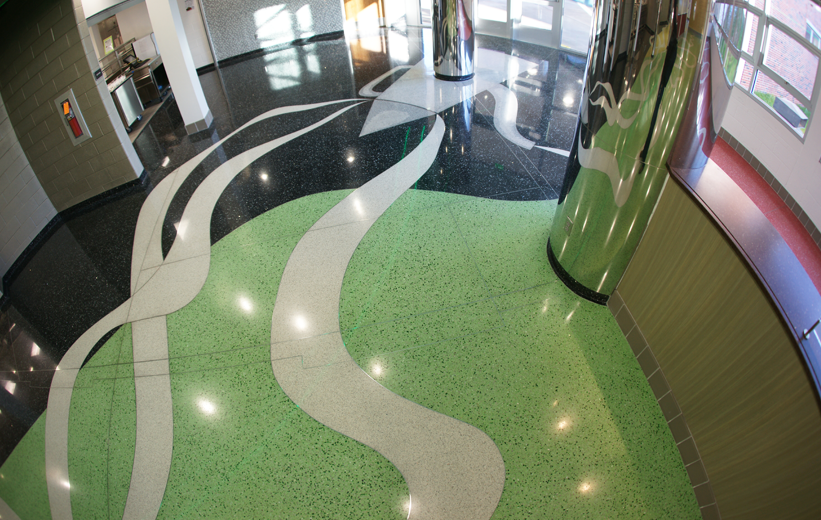 Terrazzo High School Design at John F. Kennedy High School