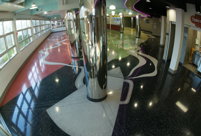 John F. Kennedy High School Terrazzo Flooring in North Carolina