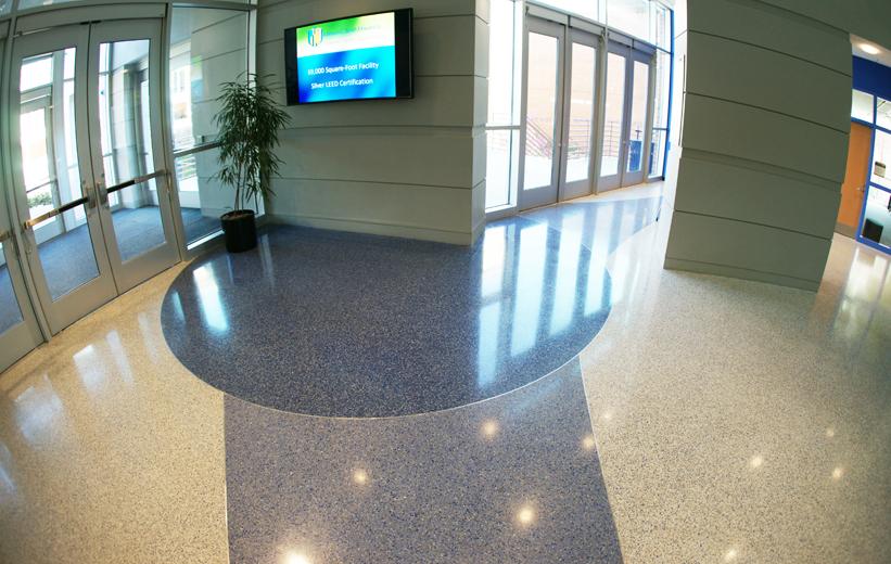 Terrazzo design at Johnson C. Smith University