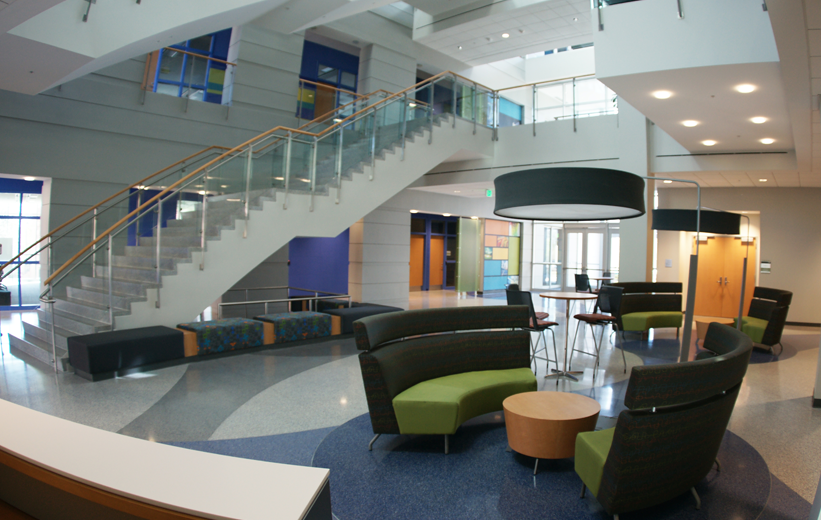 Terrazzo flooring and Precast Stair Treads installed at Johnson C. Smith University