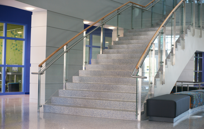 Precast Terrazzo Stair Treads and Risers installed at Johnson C. Smith University