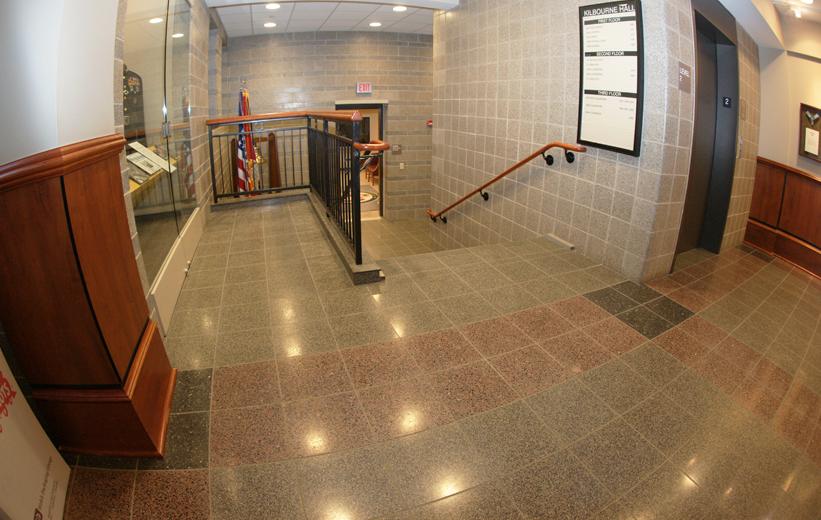 Kilbourne Hall Terrazzo Tile Installation