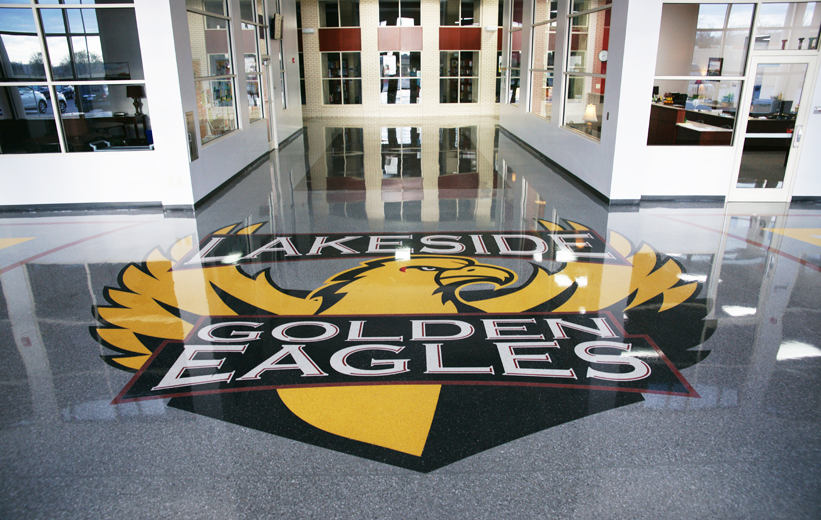Lakeside Junior High School Terrazzo Installation