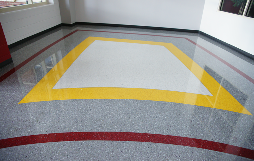 Middle School Terrazzo Flooring in Arkansas