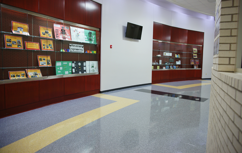 Terrazzo Flooring Lakeside Junior High School in Arkansas