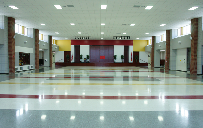 Red Yellow Terrazzo Floors in Arkansas