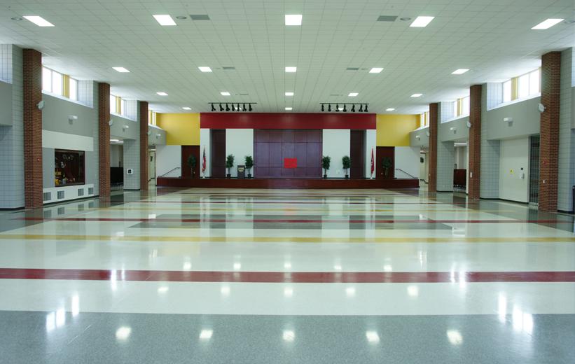 Red Yellow Terrazzo Floors in Arkansas