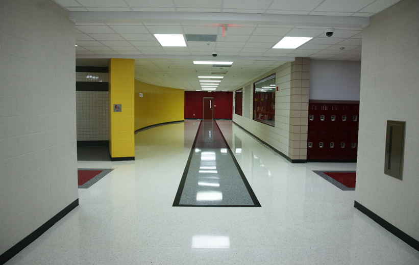 Terrazzo Hallway Middle School in Arkansas