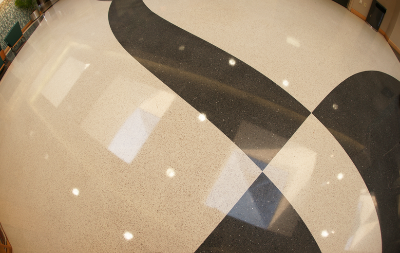 Shiny Terrazzo Flooring MUSC Wellness Center