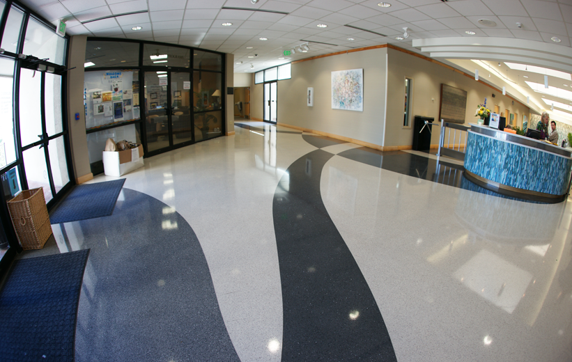 MUSC Wellness Center Hospital Entrance Lobby with Terrazzo Flooring