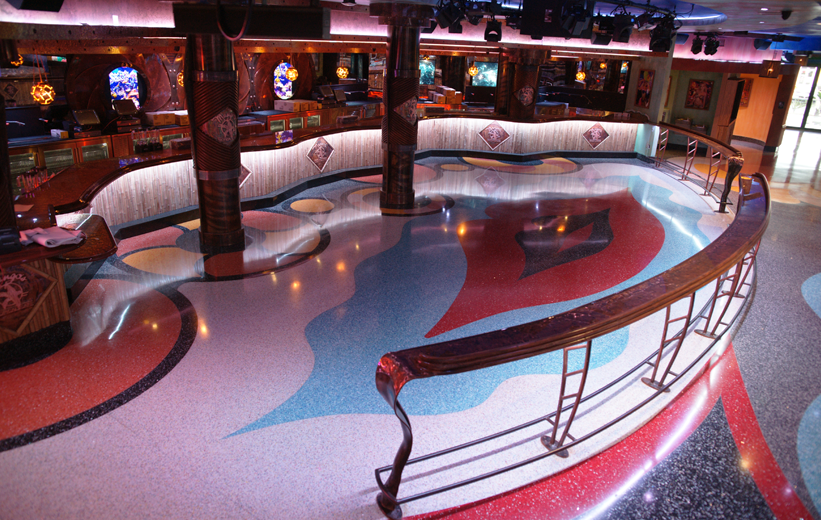 Mango's Tropical Cafe provides a great nightlife experience with its terrazzo flooring