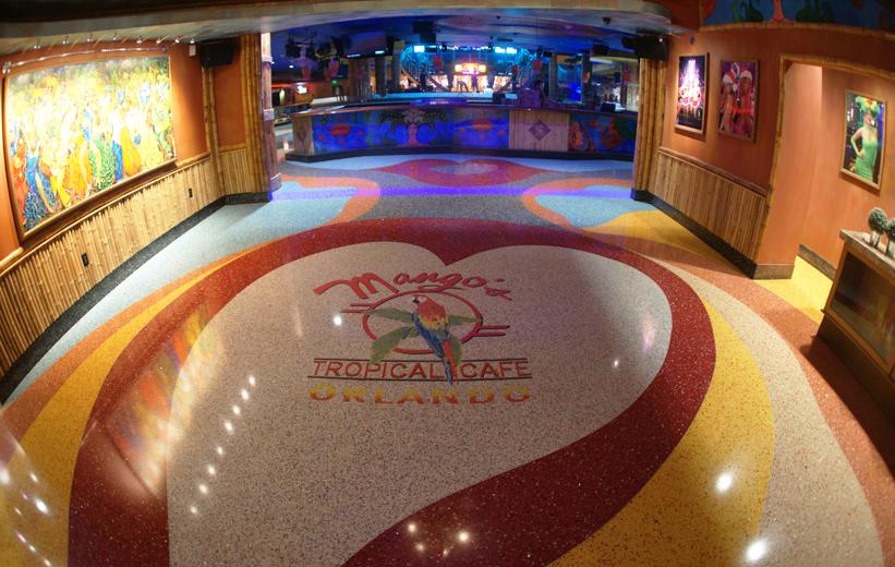 Mango's Tropical Cafe Terrazzzo Flooring Installation