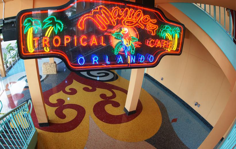 Exterior Epoxy Terrazzo Flooring at Mango's Tropical Cafe in Orlando, Florida