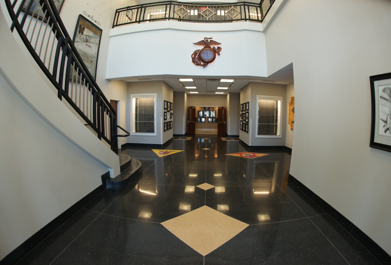 Marine Aircraft Command Operation Center Terrazzo Flooring by Entrance