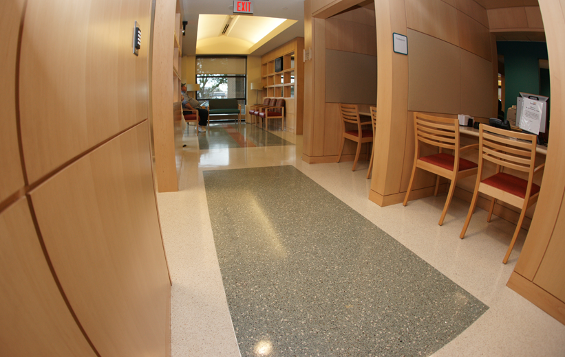 Modern terrazzo design at McLeod Medical Center