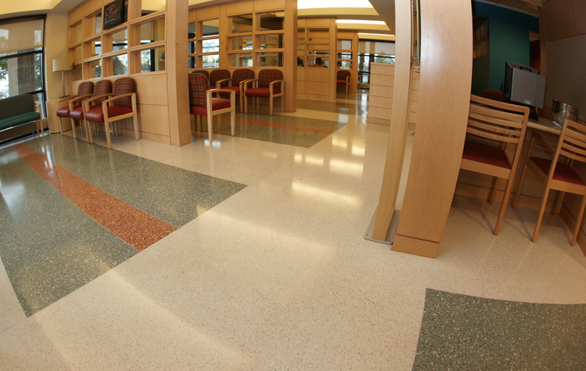 Terrazzo Floor in Hospital Lobby at McLeod Medical Center