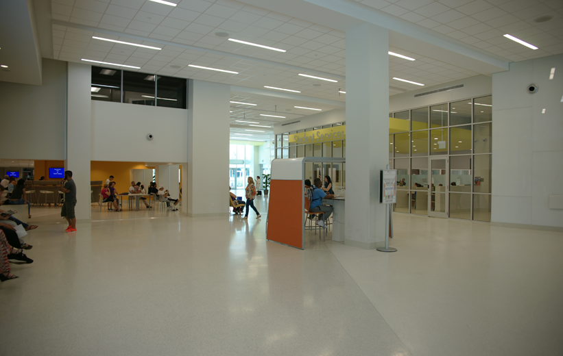 White Thin-Set Epoxy Terrazzo Flooring at Miami Dade College