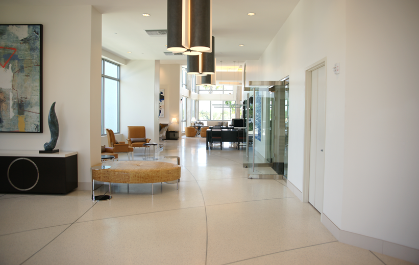 Moda North Bay Village White Epoxy Flooring Installation