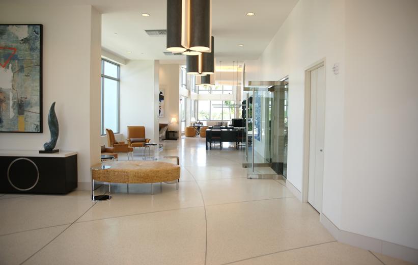 Moda North Bay Village White Epoxy Flooring Installation